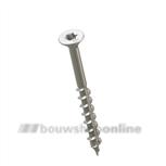 HECO Topix schroef (a2) platkop 4.0x60 mm [200] Torx-15