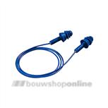 Uvex oorplugs Whisper+ blauw met koord detectable