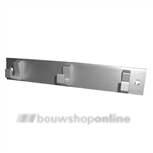 Hermeta handdoekrekje aluminium 3 haaks 21cm 0653-01
