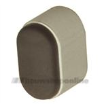 Hermeta deurbuffer ovaal aluminium 25 mm wandmodel 4700-02