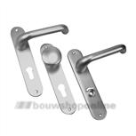AMI 200/1/7 386 Rotaveer deurkruk op schild met cilindergat 72 mm + stift 8 x 100 F-1