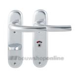 Hoppe Tokyo 1710/273kp deurkruk op schild ovaal wc 63/8 mm F-1