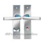 Destil 107ML deurkruk op schild vrij en bezet 63/8 mm F-1