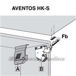 Blum Aventos HK-S set klepbeslag 20K2C00 GRs liftfactor 400-1000