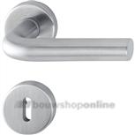 Hoppe e150z/42kv/42kvs deurkruk op rozet met sleutelgat RVS