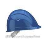 Voss bouwhelm met textiel en korte klep Voss blauw