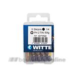 Witte bitsen tin [5x] pozidriv 2 50 mm 14 inch 427542