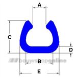 Permafix FOAM Beschermprofiel U-Fix U100 2m blauw