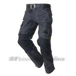 Tricorp Worker/broek Twc-2000 50 donkergrijs/zwart