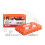 Alphnie PartyPlug oorplugs in cassette oranje