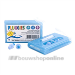 Alphnie Pluggies oorplugs in cassette blauw/kids