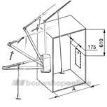 Garderobelift W120 ECO 83-117 cm grijs softclose
