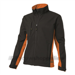 soft shell jack bi-color Tj-2000 zwart/oranje M