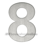 rvs huisnummer 8 matgeborsteld 120 mm 93028
