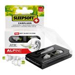 Alpine SleepSoftplus oorplugs groen/cassette zwart