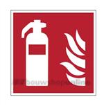 info.sticker F001 vierk20 rood/wit brandblusapp.
