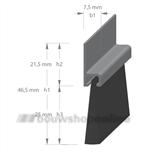 Tochtborstel hoekProfiel AH5-25-300CM