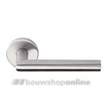 Linox Basic LB-II 19 mm deurkruk op rozet RVS zonder sleutelgat