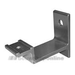 Hermeta leuninghouder aluminium F-1 universeel met gat 3541-01