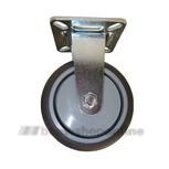 Bokwiel serie 68 Plaat 75 mm kl apparaatwiel grijs