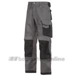 Snickers werkbroek maat 52 grijs/zwart 3312-7404