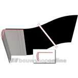 illbruck lateislabbe dubbelprofiel 300 mm x 25 m