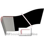 illbruck lateislabbe dubbelprofiel 400 mm x 25 m
