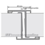 Alprokon deurnaaldprofiel 4058 T-naald 1x 2450 mm + borstel