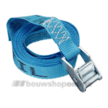 DESTIL spanband blauw 3 meter met gesp
