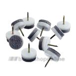 Deltafix meubelglijnagel+vilt 24 mm (100x) wit 641 +grijs