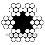 Pashook staaldraadtouw 2 mm (50m) 6x7+1 SK607 02050