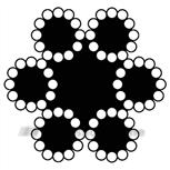 Pashook staaldraadtouw 6 mm (50m) 6x12+7 SK612 06050