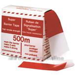 Kelmaplast afzetlint pvc dubbel rood-wit 80 mm (500 m)