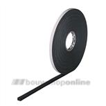 Gevelplaat PE-Trespa band zwart DZZK (25m) 12x3mm