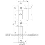 Nemef p 8691-12 sluitplaat verzinkt voor 8691 draairichting 1 (rechthoekig)