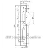 Nemef p 689-17 tonrolsluitplaat rvs voor Nemef 600-serie (rechthoekig)