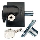axa 3012-20-97g oplegslotje antraciet buitendraaiend (gelijksluitend)