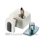 axa 3012-20-98g oplegslotje wit buitendraaiend (gelijksluitend)