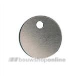 DX Pashook sleutellabel aluminium 30 mm zonder nummer HL - 30 ALU