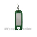 DX Pashook sleutellabel met ophangoog en s-haak HL - groen