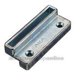 axa 3307-87-64e sluitplaat voor raamboompje met tochtprofiel draairichting 3-4