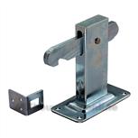 gb deurvastzetter plaat vloerbevestiging (vp) verzinkt