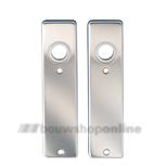 DESTIL Super kortschilden rechthoekig zonder sleutelgat aluminium F-1