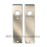 DESTIL Super kortschilden rechthoekig zonder sleutelgat aluminium F-2