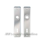 Hoppe renovatieschilden rechthoekig met sleutelgat 72mm 378L-ch F-1
