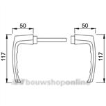 Hoppe 107v Dubayy deurkrukken blokmodel aluminium F-2