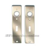 Hoppe kortschilden aluminium rechthoekig met sleutelgat 56mm 202kp-ch F-2