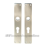 Hoppe langschilden aluminium rechthoekig met cilindergat 55mm 202-pz F-2