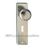 Hoppe knopschild aluminium rechthoekig met sleutelgat 56mm 40/202kp F-2
