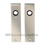 FSB kortschilden aluminium rechthoekig zonder sleutelgat 1447 F-2